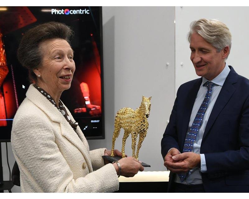 Photocentric welcomes HRH, The Princess Royal